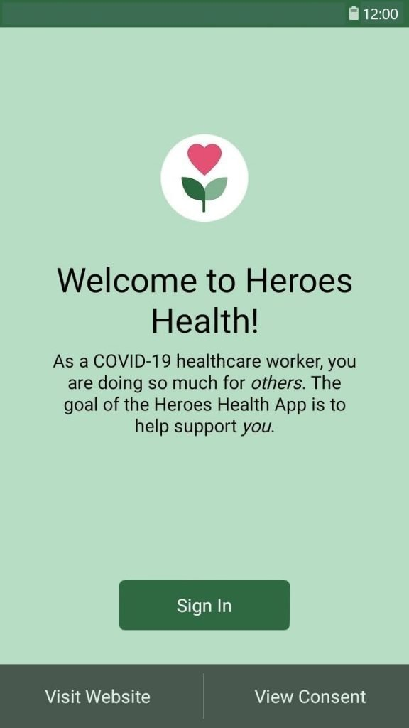 Screenshot from the Heroes Health app (Photo: Business Wire)